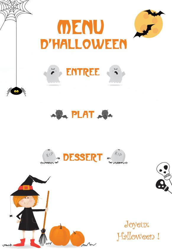 Menu d 39 halloween id es potirons et courges diverses - Idee menu halloween ...