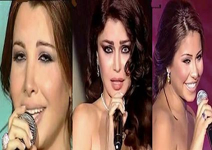 فيديو نانسي عجرم وهيفاء وهبي وشيرين من حفل ميوريكس دور 2011