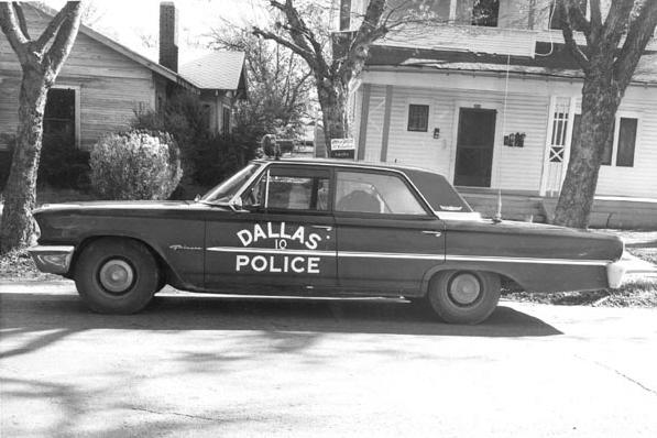 Le véhicule de l'officier J.D. Tippit (22.11.1963)