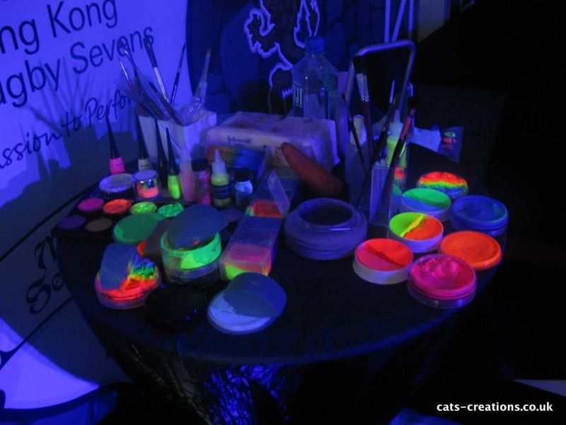 face painting ideas for all adult blacklight face painting. Black Bedroom Furniture Sets. Home Design Ideas