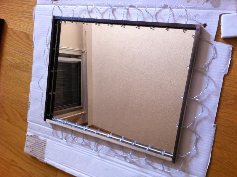 Fabrication miroir infini for Miroir infini led
