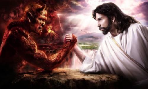 Cristo lucha contra el Mal