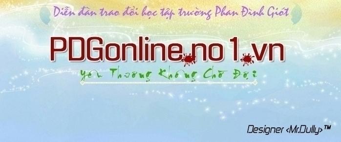 Diễn đàn Trường THPT Phan Đình Giót