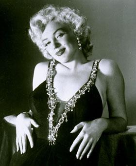 Marilyn Monroe's hands.