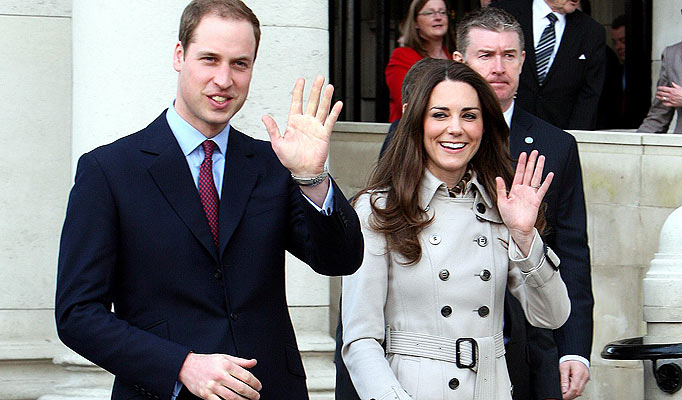 The hands of Prince William & his wife Kate Middleton.