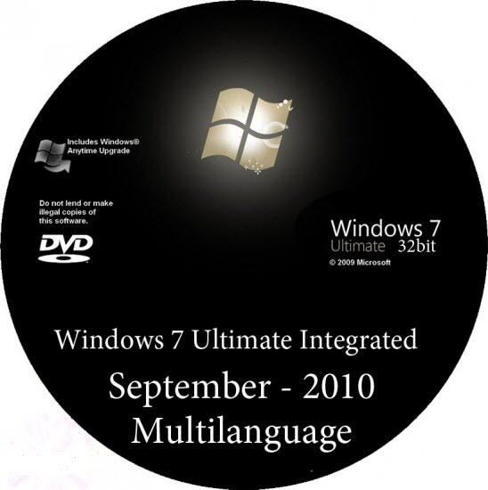 Windows 7 Ultimate Integrated September Multilanguage - 32Bit