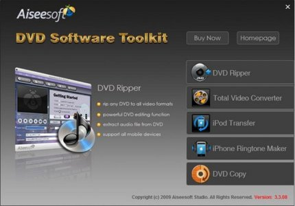 Aiseesoft DVD Software Toolkit v5.0.16