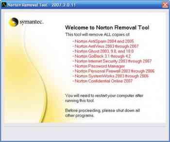 Norton Removal Tool v2011.0.1.8