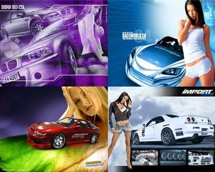 Girls Auto Wallpapers Pack