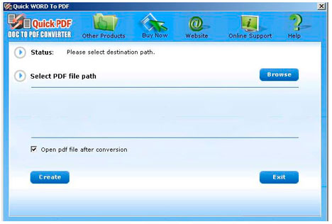 MS Word to PDF Converter v3.5