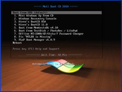 MultiBoot Dual Hiren's Multilanguage | 424 MB