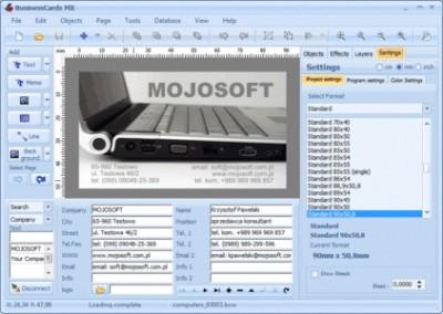 Mojosoft BusinessCards MX v4.0 Multilingual