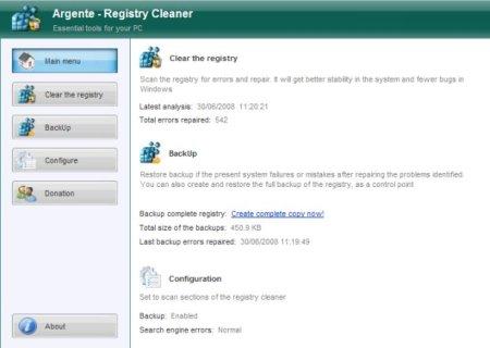 Argente Registry Cleaner v2.0.0.5 Portable