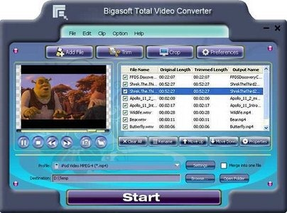 Bigasoft Total Video Converter v2.5.0