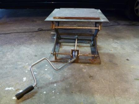 Plan l ve moto - Fabriquer une table elevatrice moto ...