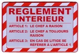 Règlement intérieur et ligne directrice