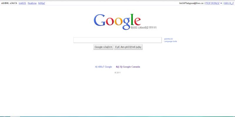 google 1337. Google 1337 Haxor