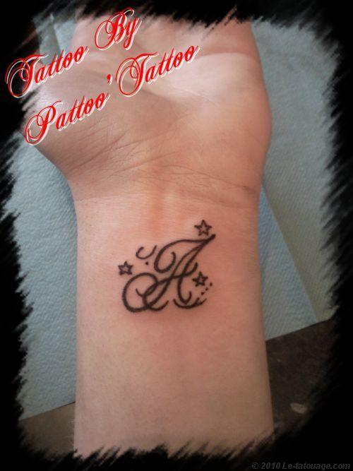 Tatouage lettre j tattoo - Modele tatouage lettres entrelacees ...